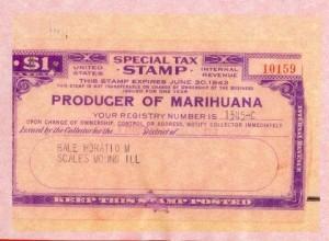 Marihuana Tax Stamp