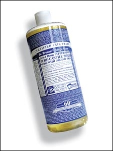 Dr. Bronner's Magic Peppermint Liquid Hemp Soap