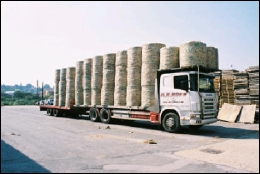 Hemcore Hemp Bales on a Truck