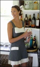 Woman in hemp dress
