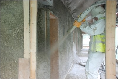 Spraying Hemcrete