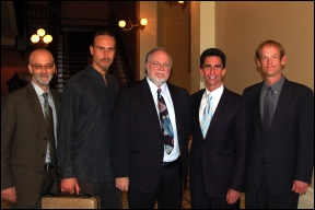 Patrick Goggin, David Bronner, Bob McFarland, Senator Mark Leno and David Piller