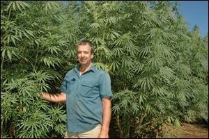 Waterloo hemp farmer Merv Robinson