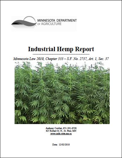 Minnesota 2010 Industrial Hemp Report