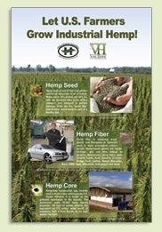 Let U.S. Farmers Grow Industrial Hemp poster set