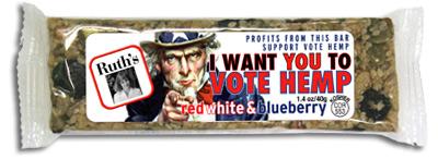 The new Vote Hemp Bar