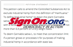 SignOn.org - Hemp Petition