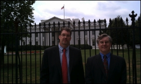 Eric Steenstra, Vote Hemp President, and Tom Murphy, Vote Hemp National Outreach Coordinator, in front of the White House.