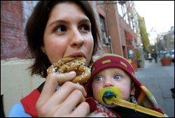 Tania Gladstone Enjoys a Hemp Pretzel