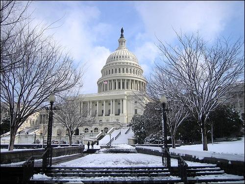 U.S. Capitol in Winter