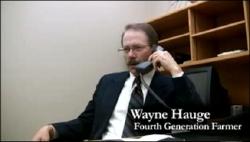 North Dakota Farmer Wayne Hauge