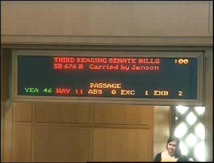 Oregon House Vote SB 676