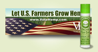 Vote Hemp Sticker and Lip Balm