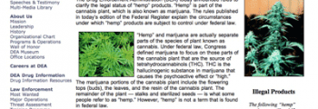 DEA publishes rules purporting to make hemp foods illegal