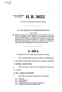 Hemp For Victory Act - H.R. 3652
